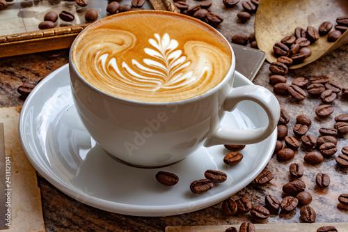 Fotografie, Obraz  Kaffee Latte Art