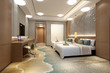 3d render modern hotel room