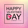 Valentine's day greeting card or background in trendy blur style.
