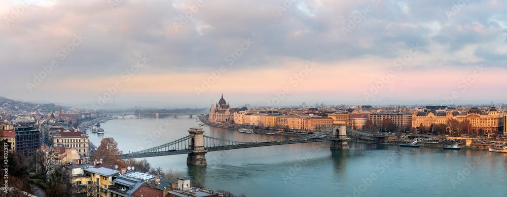 Fototapety, obrazy: Panorama of Budapest Hungary