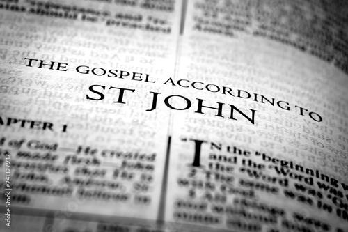 Bible New Testament Christian Gospel of St John Saint Fototapete