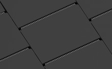 Calendar Template 3d Design Black Mockup Isometric