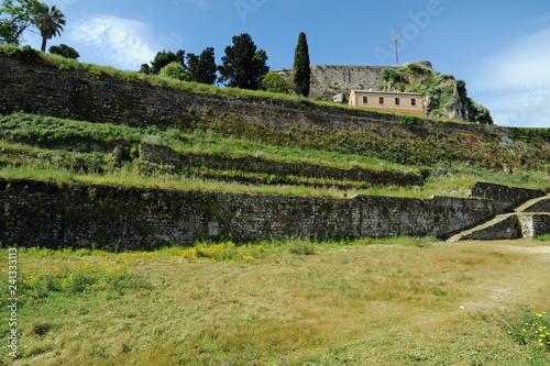 Fotografía  La tour de la terre de la vieille forteresse de la ville de Corfou