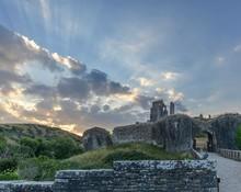 Ruins Of Corfe Castle, Corfe, Dorset, England, UK
