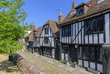 Old Half-timbered Houses At Church Square, Rye, England, Great Britain