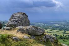 Thunderclouds, Bonehill Rocks, Dartmoor NP, Widecombe-in-the-Moor, England, Great Britain