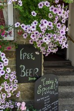 Sign Free Beer With Small Prin...