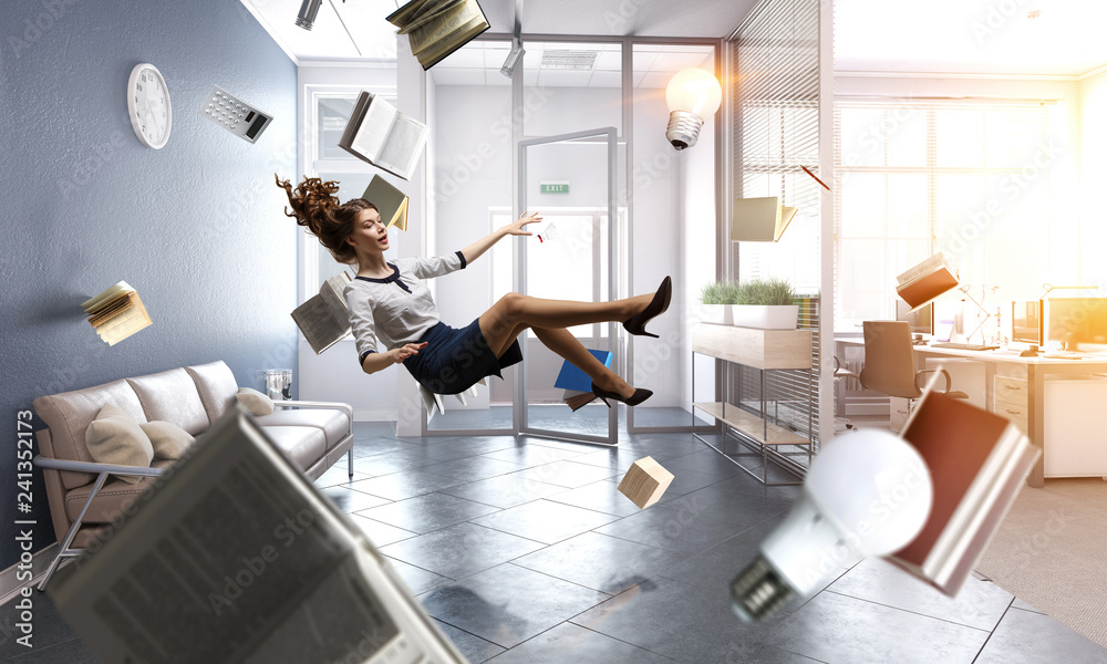 Fototapety, obrazy: When reading takes your away. Mixed media
