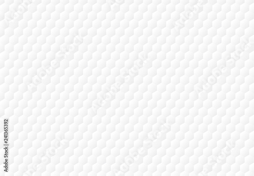 Abstract white hexagon embossed pattern background and texture. Slika na platnu