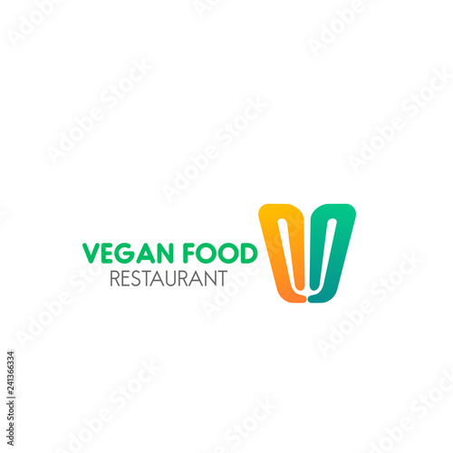 Sign for vegan food cafe - Buy this stock vector and explore