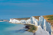 The white chalk cliffs at the south coast of England