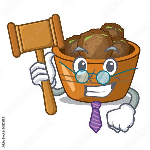 Fényképezés  Judge gulab jamun sprinkled with sugar mascot