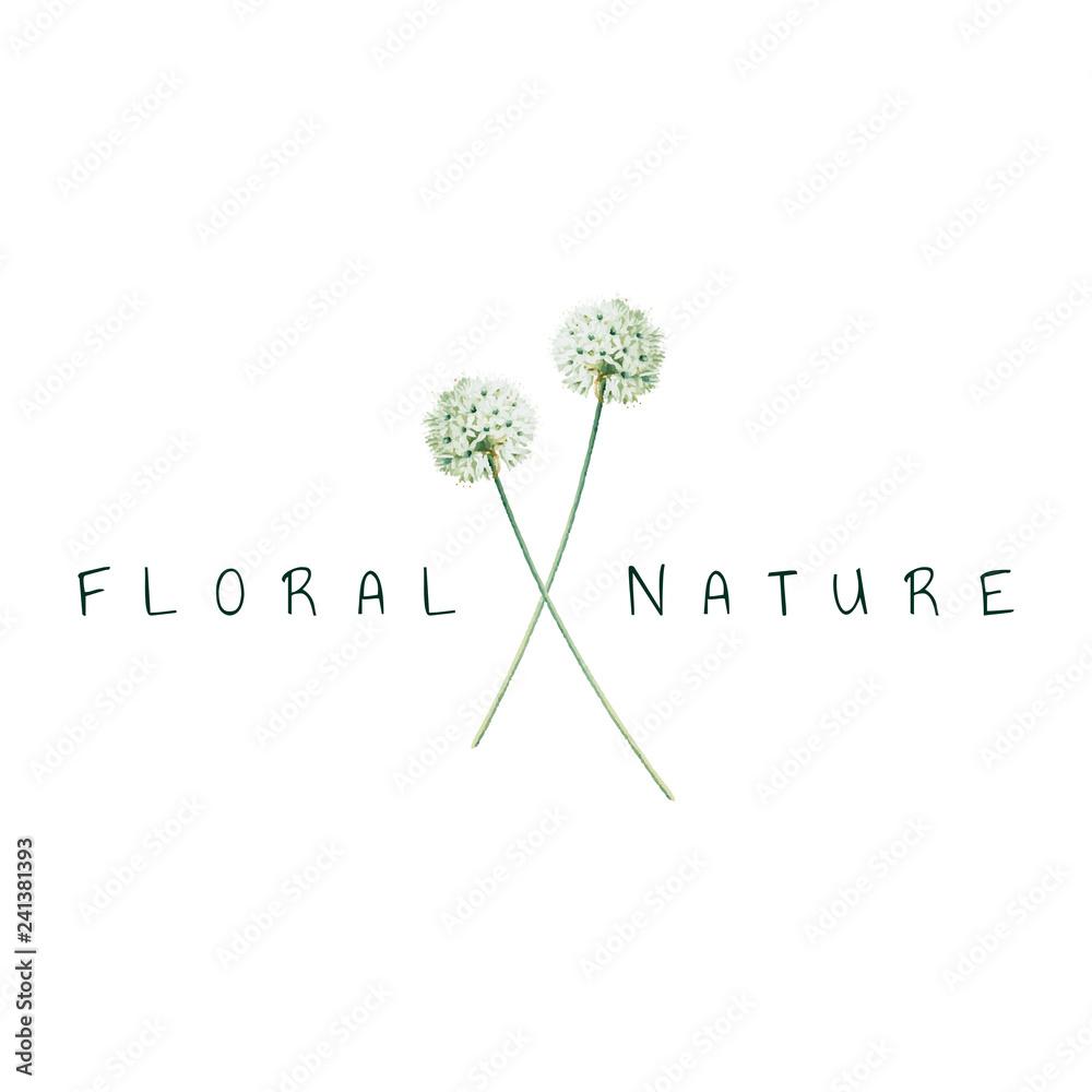 Fototapety, obrazy: Floral nature logo design vector
