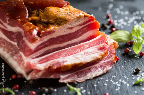 Smoked Bacon with Spices and Herbs