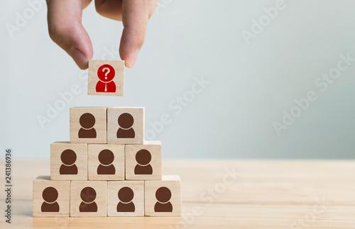 Fotografie, Obraz  Human resource management and recruitment business concept