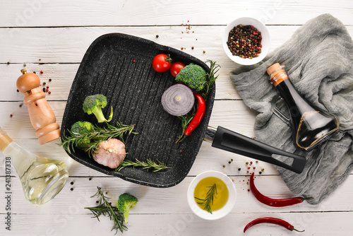 Stampa su Tela Grill pan for cooking