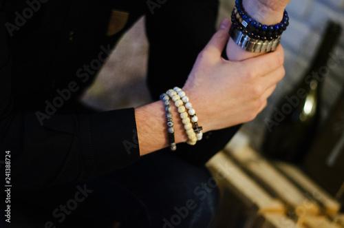 Pinturas sobre lienzo  Men's Women's Hand Bracelets