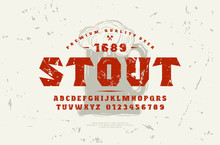 Serif Font And Craft Beer Label Template
