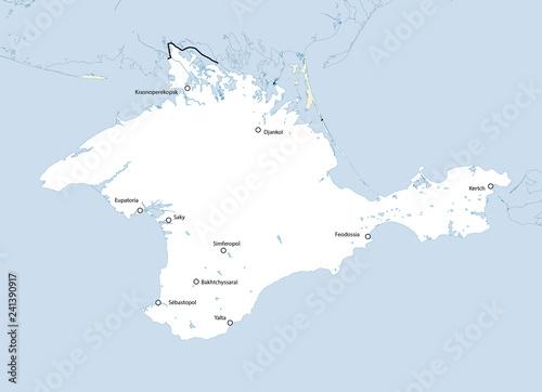 Photo  Map of Crimea