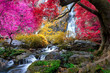 Khlong Lan waterfall is a beautiful Waterfalls in the rain forest jungle Thailand