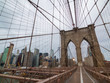 Brooklyn bridge at day time, Manhattan view