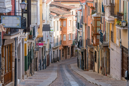 beautiful balboraz street of zamora, Spain