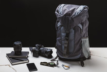 Backpack, Smartphone, Compass,...