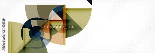 Spoed Foto op Canvas Wanddecoratie met eigen foto Trendy circles composition geometric background