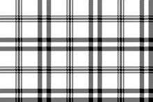 Simple Black White Check Plaid...