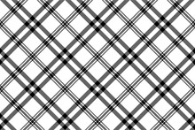 Simple Black White Check Plaid Seamless Pattern