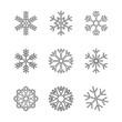 płatek śniegu zestaw ikon