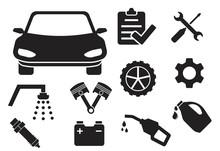Car Maintenace Icon Set