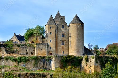 Deurstickers Historisch geb. Castle of Salignac-Eyvigues, a commune in the Dordogne department in Nouvelle-Aquitaine in southwestern France.