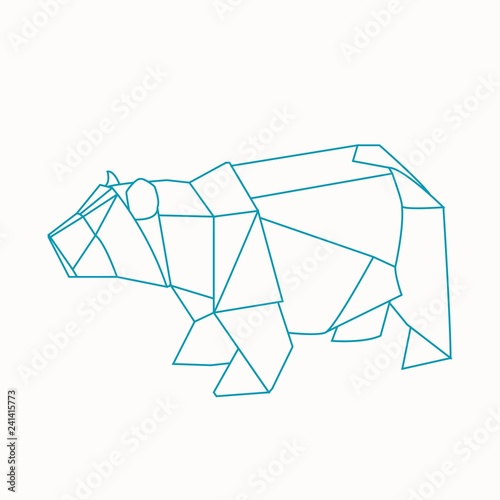 Origami bear - Buy this stock illustration and explore ... on