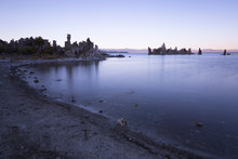 USA, California, Lee Vining, South Tufa Area, Mono Lake, Rock Formations In The Evening
