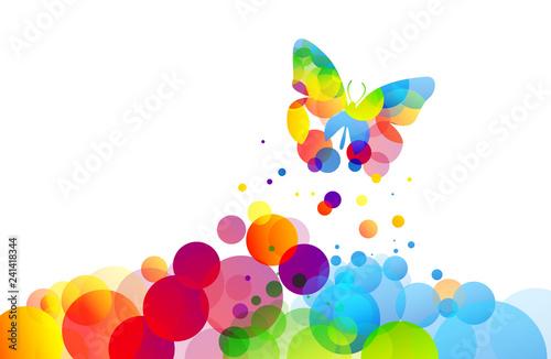 Fotomural farfalla, fantasia, icona, simbolo, primavera, volare, libertà,