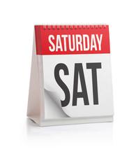 Week Calendar, Saturday Page