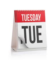 Week Calendar, Tuesday Page