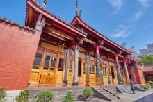 Taipei, Taiwan - November 29, 2018: A Man Prayed For Luckiness At Xingtian Temple In Zhongshan District In Taipei City, Taiwan