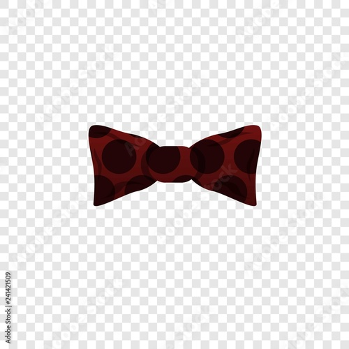 Red black bow tie icon. Cartoon of red black bow tie vector icon for web design for web design