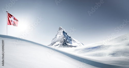 Matterhorn im Winter Tablou Canvas