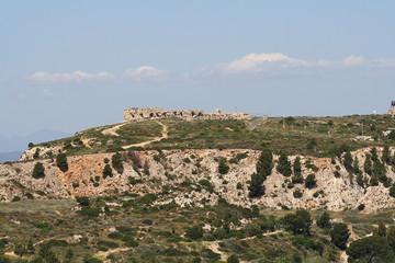 Fototapeta na wymiar Cagliari, Forte di Sant'Elia