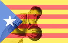 Catalonia Flag, Background, Texture, Illustration