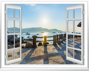 view of the window on the sea promenade