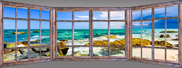 Ocean view window paradise