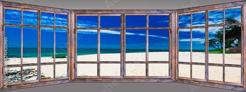Fotografie, Obraz Ocean view window paradise
