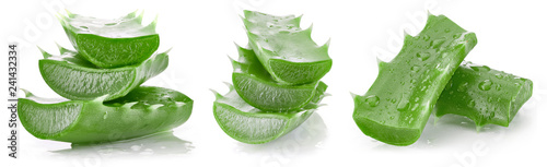 Aloe vera isolated on white Wallpaper Mural
