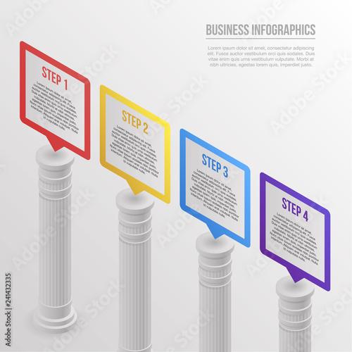 Fotomural Pillar infographic