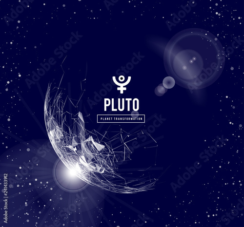 Photo  Pluto, the planet responsible in astrology for the transformation, rebirth, the collective energy of the masses