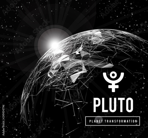Fotografie, Obraz Pluto, the planet responsible in astrology for the transformation, rebirth, the collective energy of the masses